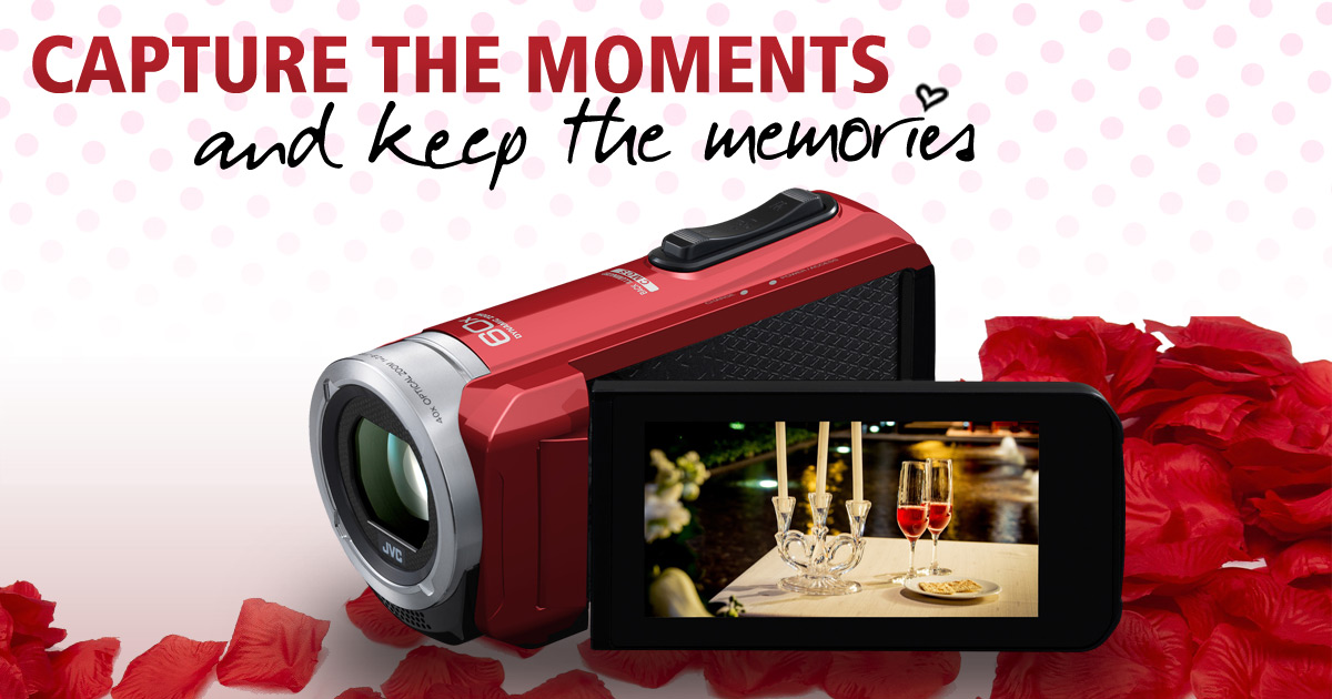 Valentines competition to win a JVC camcorder